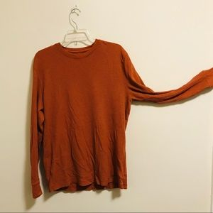 Old Navy Burnt Orange Thermal Mens Large